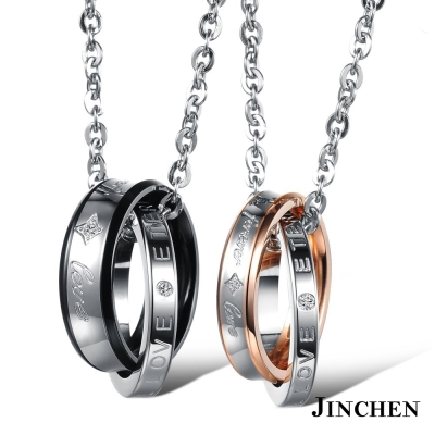 JINCHEN 白鋼永遠的愛 情侶項鍊