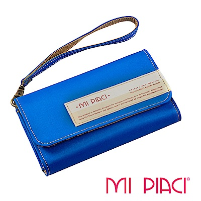 MI PIACI-Jet Set系列-手機零錢包-布款-1085018-水藍
