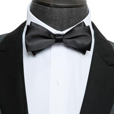 拉福  大小翼精品中折領結新郎結婚領結糾糾(黑色)