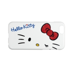 日本Suncrest HelloKitty iPhone6(4.7)閃鑽保護殼(純白KT)