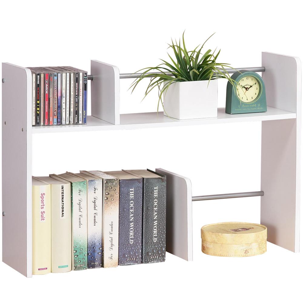 Homelike 安格斯桌上型書架-純白色