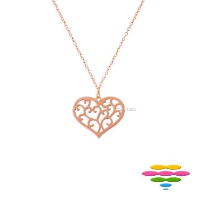 彩糖鑽工坊 愛心手鍊 銀鍍玫瑰金項鍊 桃樂絲 Doris系列