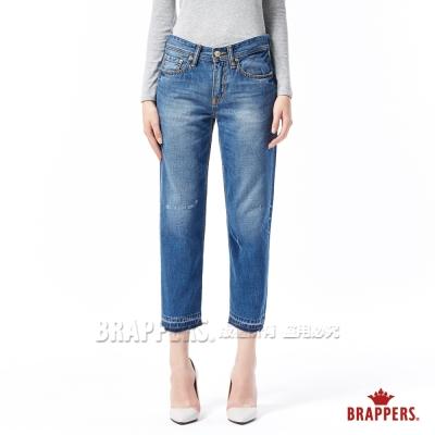 BRAPPERS 女款 Boy Friend 系列-女用彈性八分褲-藍