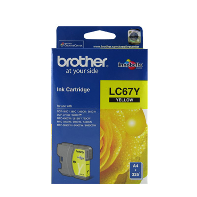 Brother LC67 原廠黃色墨水匣