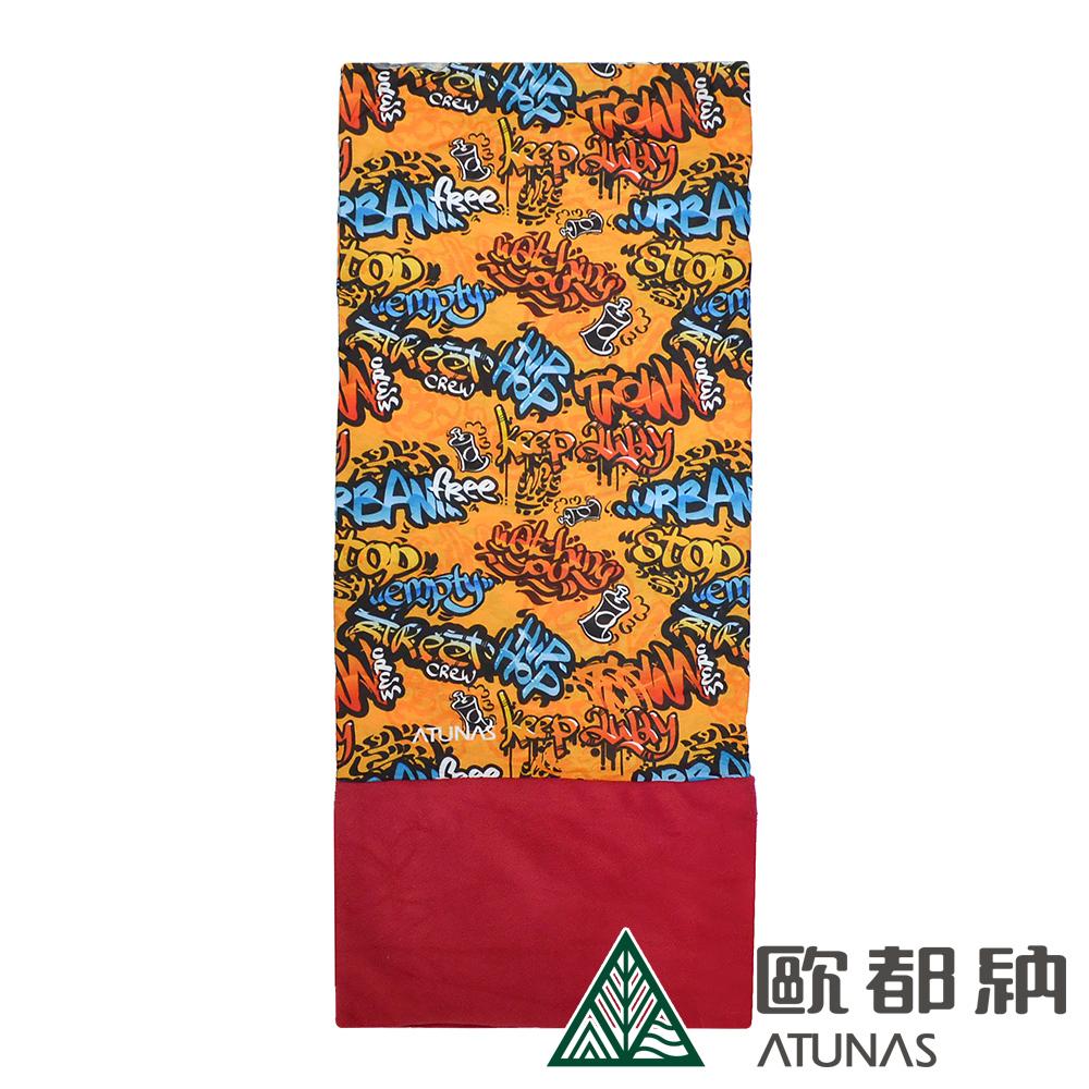 【ATUNAS 歐都納】保暖頭巾/面罩/領巾/單車/爬山/運動配件 A-A1627 黃棕