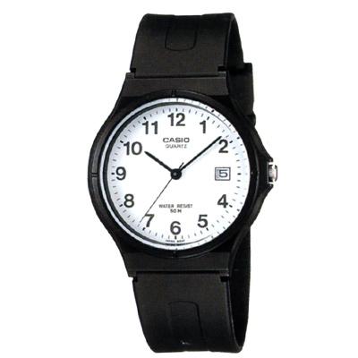 CASIO 超輕薄感時尚指針錶(MW-59-7B)-白