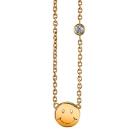 Shy by SE HAPPY FACE 笑臉金項鍊 14KGF 鑲1.5分鑽石