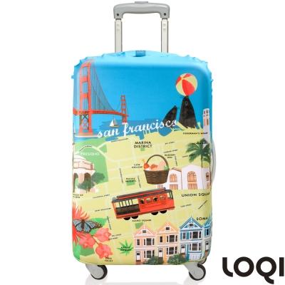 LOQI 行李箱套│舊金山L號 適用28吋以上行李箱保護套