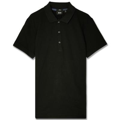 HUGO BOSS 黑標素面POLO男衫(黑)
