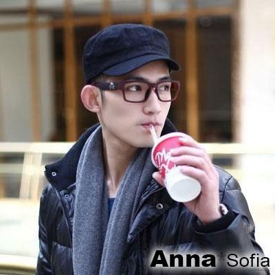 AnnaSofia 單色純棉款 棒球帽軍帽(黑系)