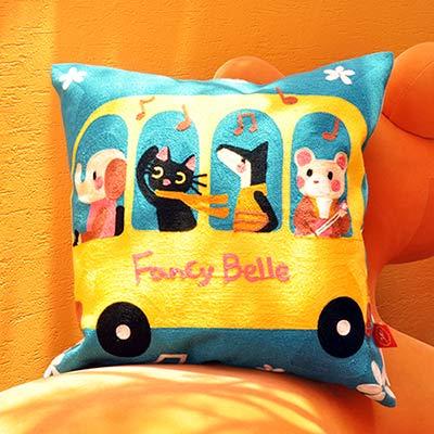 義大利Fancy Belle X Malis 一起郊遊趣 毛巾繡靠墊 45*45CM