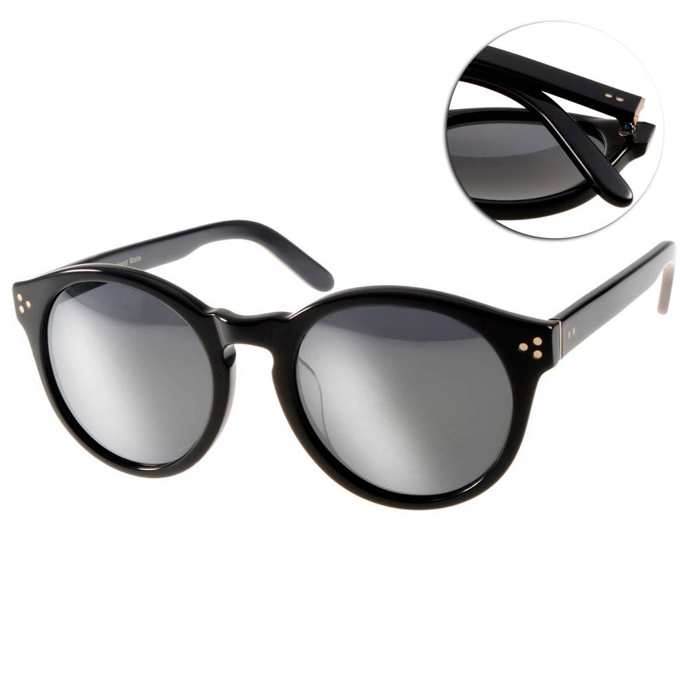 Go-Getter太陽眼鏡 韓系圓框/黑-白水銀#GS1002 BKSM