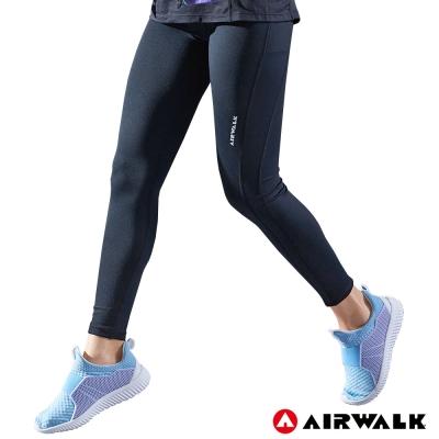【AIRWALK】女款緊身長褲-黑色