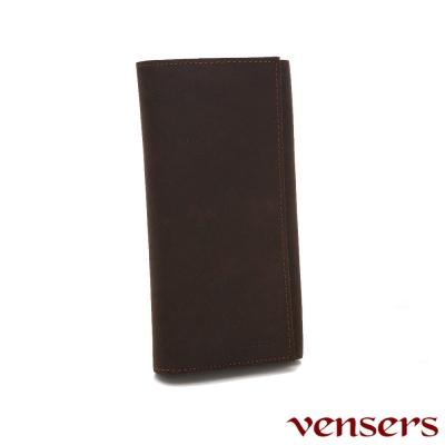 vensers 小牛皮潮流個性皮夾~(NB035801瘋馬皮長夾)