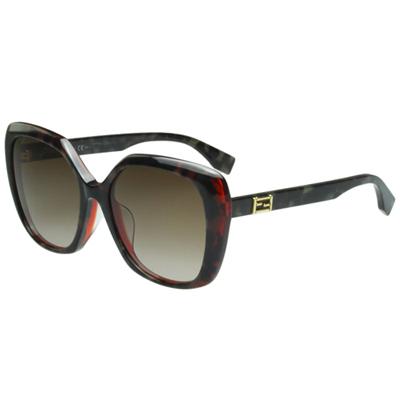FENDI 時尚造型太陽眼鏡 (琥珀色)FF0107FS