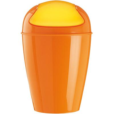 KOZIOL Del搖擺蓋垃圾桶(橘XL)