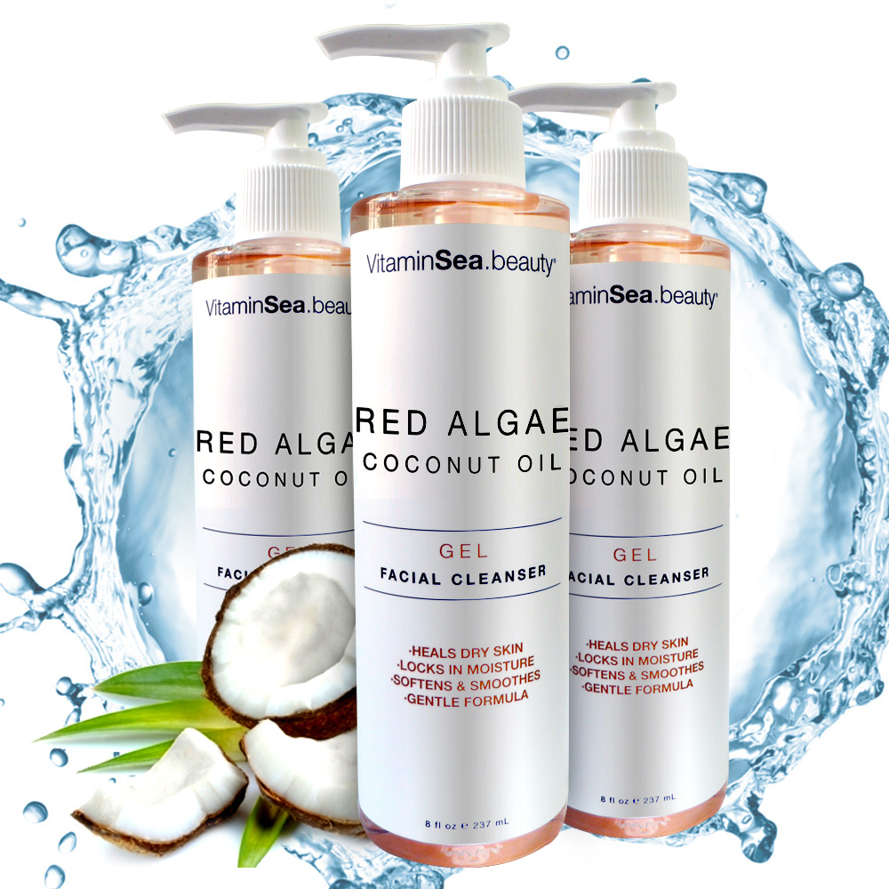 VS紅藻椰子油高鎖水柔白潔顏卸妝凝膠3入組★市價3000(過年賣場)