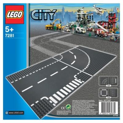 LEGO樂高 城市系列 7281 路口跟彎道(底板一包兩片) (5Y+)