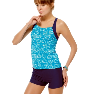 泳裝 兩件式 藍色系二截女泳裝 沙兒斯