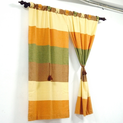 布安於室-色塊純棉窗簾-古樸色系