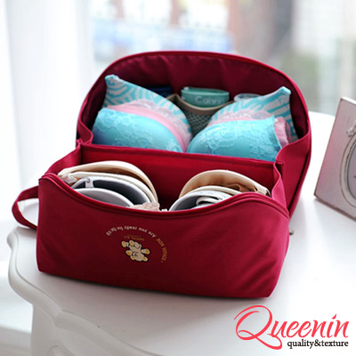 DF Queenin - 旅行多功能貼身內衣褲收納袋-共<b>3</b>色
