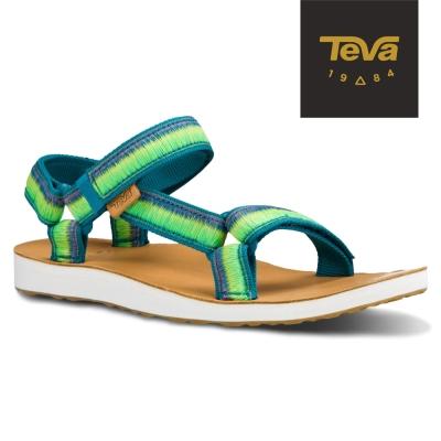 TEVA 美國-女 Original Universal 經典緹花涼鞋 (漸層綠)