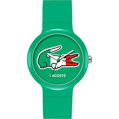 Lacoste 國旗系列世足賽熱血腕錶-義大利/40mm
