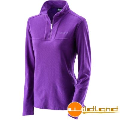 Wildland 荒野 0A22601-58葡萄紫 女 彈性銀離子保暖抗 菌上衣