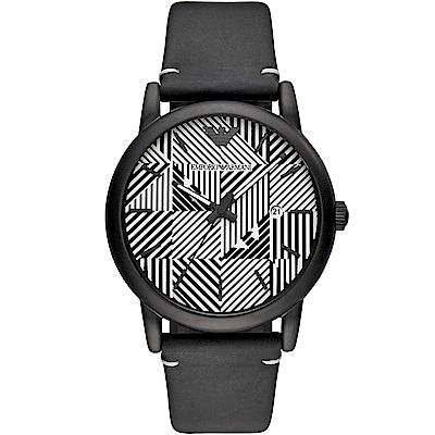 Emporio Armani幾何美學時尚腕錶(AR11136)-43mm
