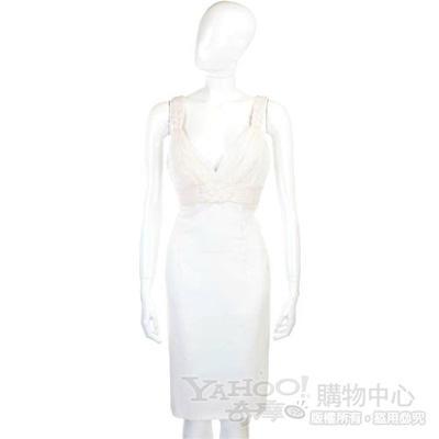 CLASS roberto cavalli 白色編結紗質洋裝