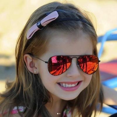 RAY BAN太陽眼鏡 兒童款/黑-紅水銀#RJ9506S 2016Q
