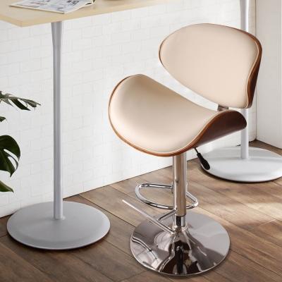 Royal Madrid 皇家馬德里吧台椅(皮質)-米-DIY