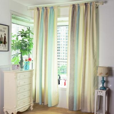 伊美居 - 慕勒寬條單層落地窗簾 130x230cm(2件)