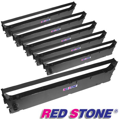 RED STONE for OKI ML1190黑色色帶組(1組6入)