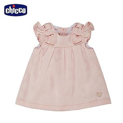 chicco-鬱金香-荷葉袖洋裝-粉(12-24個月)