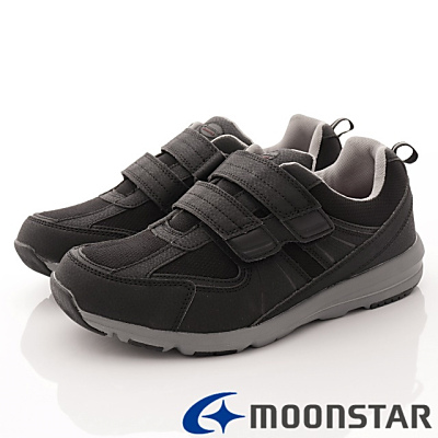 日本Supplist戶外健走鞋-靜態防水4E寬楦款-ON736黑(男段)