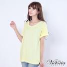 Victoria 斑駁印花上衣-女-淺黃
