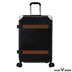 RAIN DEER 賽維亞24吋PC+ABS亮面行李箱-曜石黑