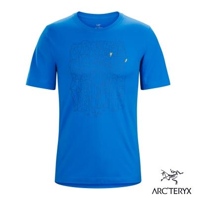 Arcteryx 始祖鳥 24系列 男 Block 有機棉 短袖T恤 藍