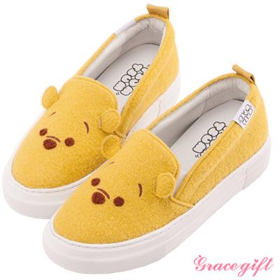 Disney collection by Grace gift立體拼接懶人休閒鞋 黃
