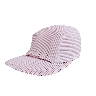 ISSEY MIYAKE 三宅一生PLEATS PLEASE褶紋鴨舌帽(粉藕)