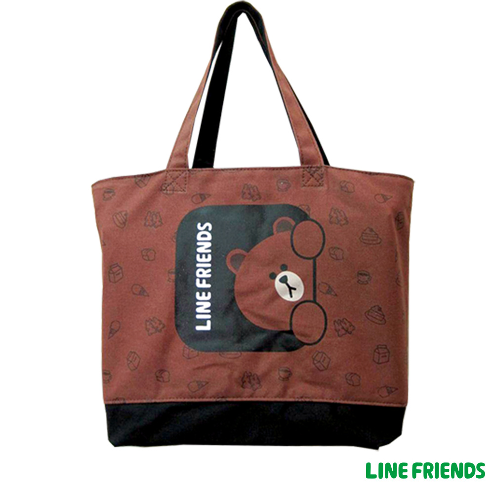 LINE FRIENDS  熊大帆布托特袋(咖)LI5449