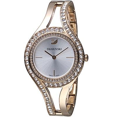 施華洛世奇SWAROVSKI耀眼流線時尚腕錶(5377563)-31mm