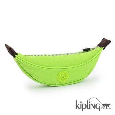 Kipling 筆袋 芭蕉綠素面-小