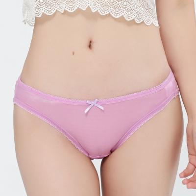 內褲 親肌100%蠶絲低腰三角內褲 (紫) Chlansilk 闕蘭絹