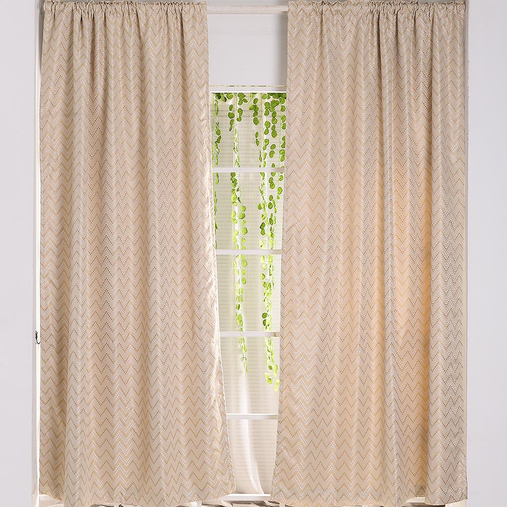伊美居 - 伊卡緹花雙層遮光落地窗簾 135x240cm(2件)