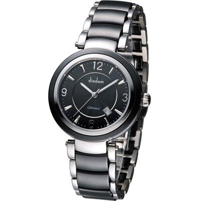 Diadem 黛亞登 夏日限定時尚陶瓷腕錶-黑/35mm