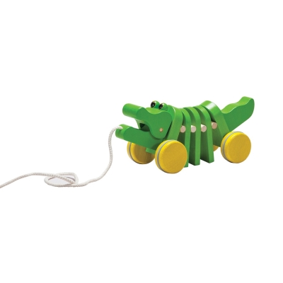 GMP BABY PLANTOYS原木鱷魚拉車-1個