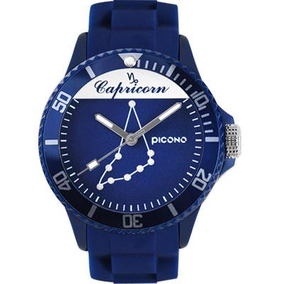 PICONO 星座系列休閒腕錶-摩羯座x藍/48mm