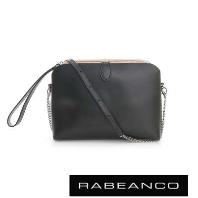 RABEANCO 迷時尚系列鍊帶設計肩背包 - 黑